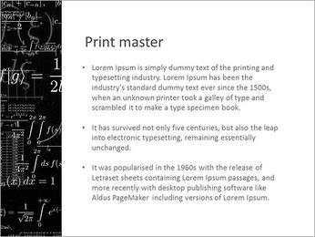 Larga Math Formulas Plantillas de Presentaciones PowerPoint