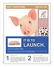 Pinky Piggy Flyer Template