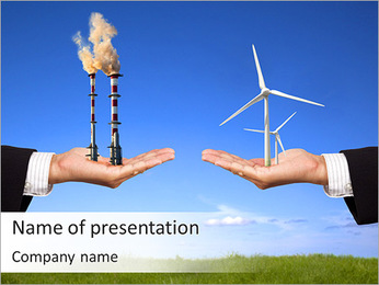 Winmill And Industry PowerPoint Template