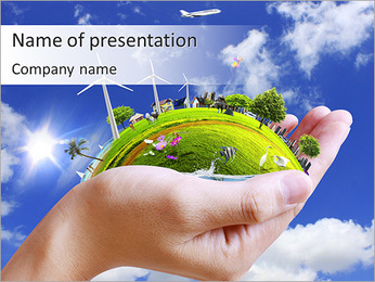 Taking Care About Planet PowerPoint Template
