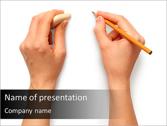 Pencil Drawing PowerPoint Template