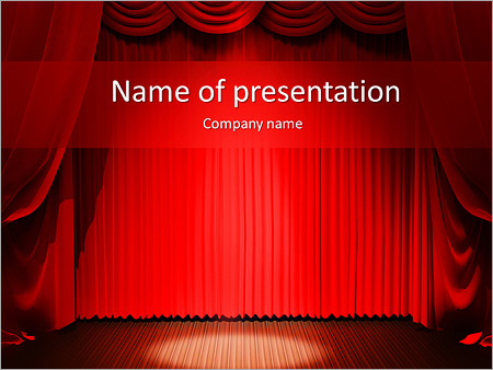Red Colored Stage PowerPoint Templates