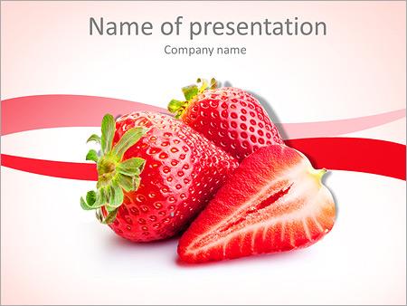strawberry powerpoint template smiletemplates com