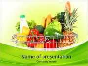Vegetables From Supermarket PowerPoint Templates