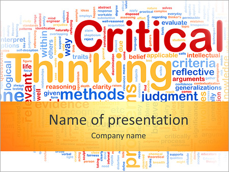 critical thinking powerpoint template backgrounds google slides