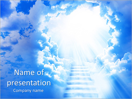 Heaven stairs powerpoint template backgrounds google slides id heaven stairs powerpoint template toneelgroepblik