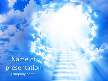 Heaven Stairs PowerPoint Template