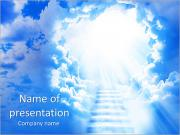 Heaven Stairs PowerPoint Templates