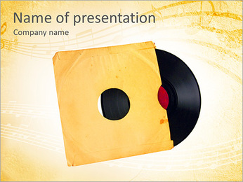Vinyl In Cover PowerPoint Template