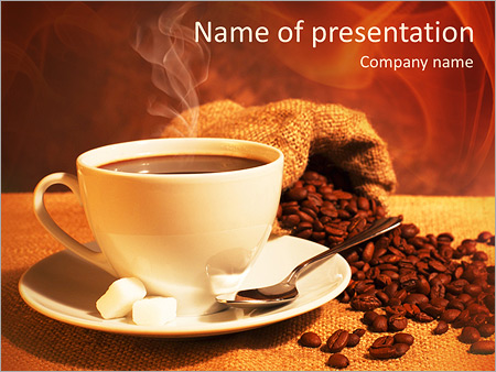 coffee powerpoint template smiletemplates com