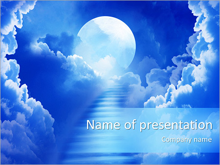Oxygen powerpoint template smiletemplates way to heaven powerpoint template toneelgroepblik Choice Image