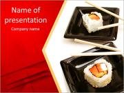 Plate With Sushi PowerPoint Templates