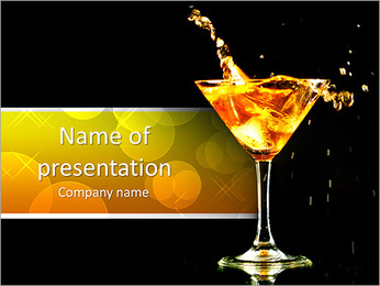 Martini PowerPoint Template - Slide 1