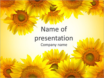 Tournesol Cadre Modèles des présentations  PowerPoint
