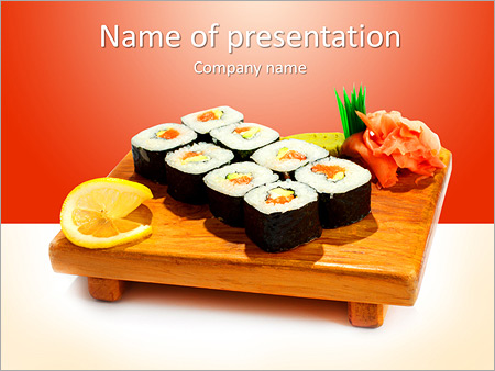 japaneese restaurant powerpoint template & backgrounds id, Powerpoint templates