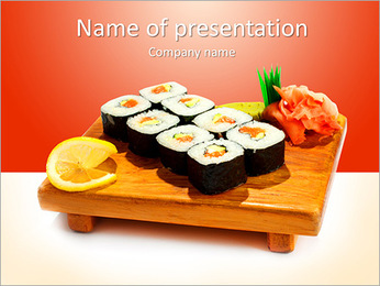 Japaneese Restaurant PowerPoint Template