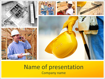 建設ワークフロー PowerPointプレゼンテーションのテンプレート
