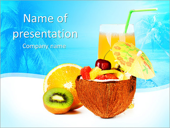Exotic Fruit Salad PowerPoint Template