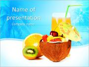 Exotic Fruit Salad PowerPoint Templates