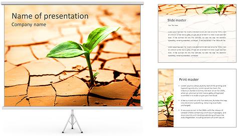 Fissure dans le sol Modèles des présentations  PowerPoint