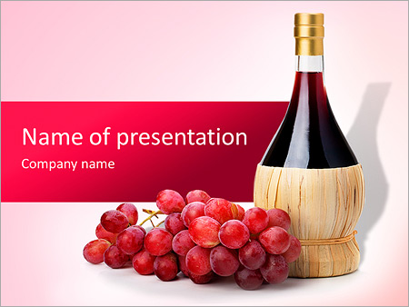 bottle of good wine powerpoint template backgrounds google slides