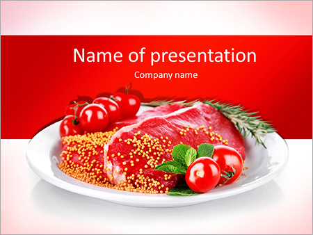 Raw meat powerpoint template backgrounds id 0000004638 raw meat powerpoint template toneelgroepblik Choice Image