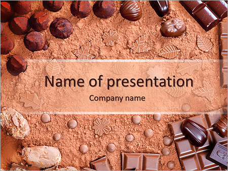 Chocolate Candies PowerPoint Template