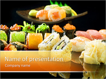 Mixed Sushi Set PowerPoint Template