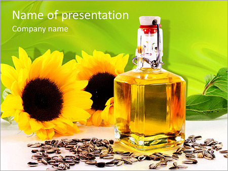 Sunflower Oil PowerPoint Template, Backgrounds & Google Slides - ID ...