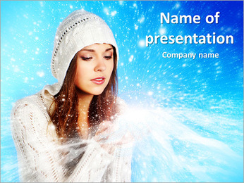 Magical Winter Lady PowerPoint Template