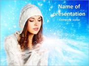 Magical Winter Lady PowerPoint Templates
