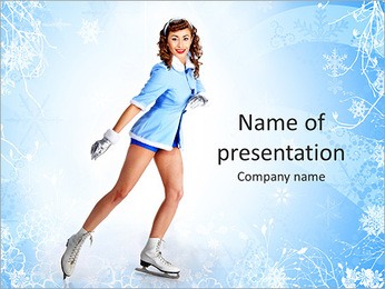 Pretty Lady Slicing PowerPoint Template