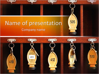 Hotel Keys PowerPoint Template
