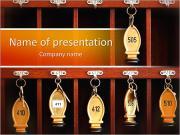 Hotel Keys PowerPoint šablony