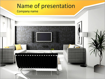 Living Room Design PowerPoint Template