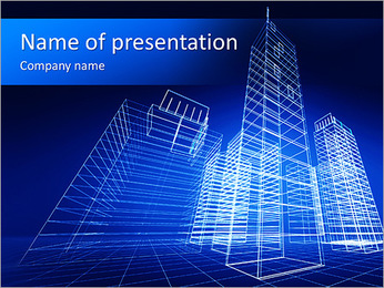 Skyskrapa Project PowerPoint presentationsmallar