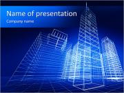 Skyskrapa Project PowerPoint presentationsmallar