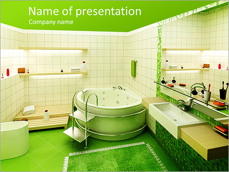 bathroom design powerpoint template backgrounds id 0000004684