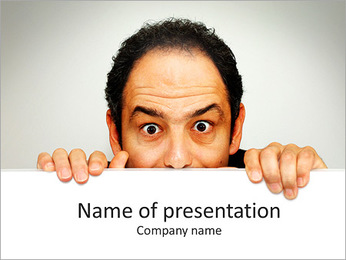 Man Spying PowerPoint Template