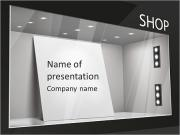 Storefront with poster for your design PowerPoint Templates