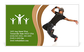 Break Dancer Business Card Template
