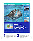 Dolphins In Water Flyer Template
