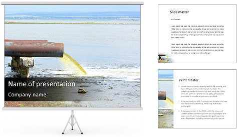 Water Pollution PowerPoint Template & Backgrounds ID 0000004724 ...