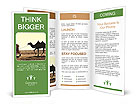 Man With Camel Brochure Templates