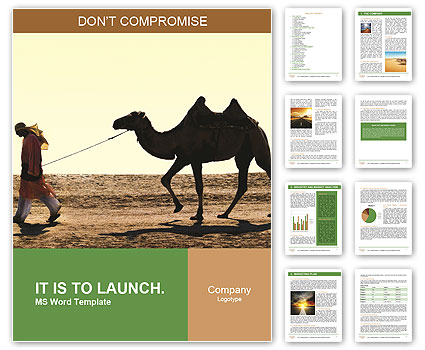 man with camel word template amp design id 0000004727