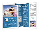 Woman At Beach Brochure Templates