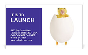 Yellow Chick Business Card Templates