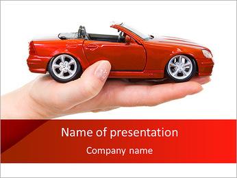 Rouge Cabriolet Modèles des présentations  PowerPoint