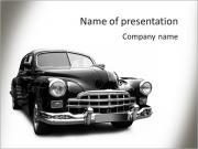 Noir Rétro voiture Modèles des présentations  PowerPoint
