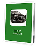 Black Retro Car Presentation Folder